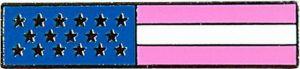 U.S Pink Line Flag Lapel Pin