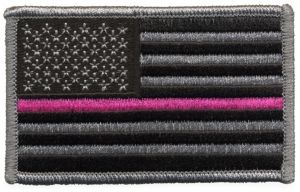 U.S Pink Line Flag Patch