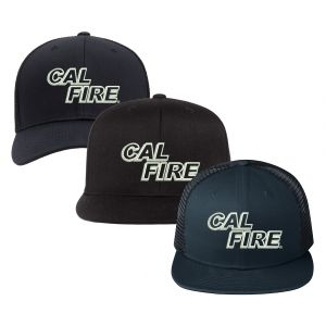 CAL FIRE White Text Logo Off-Duty Hat