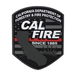 CAL FIRE PVC Red Line Patch
