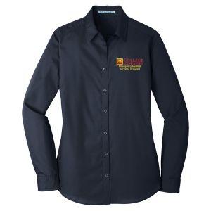 COD EMS Instructor Women's Long Sleeve Button Down Shirt
