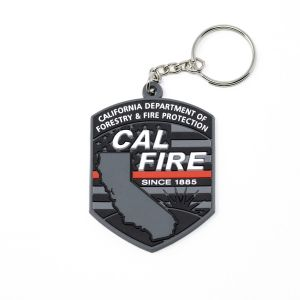 Cal Fire Red Line Patch Key Fob