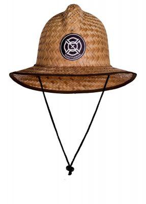 Saint Florian Straw Firefighter Hat