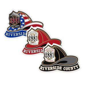 Riverside County Fire Helmet Sticker