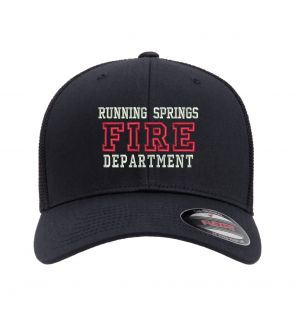 Running Springs Fire Flexfit Trucker Mesh Hat