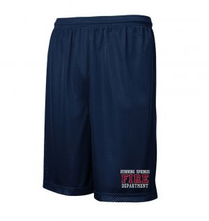Running Springs Fire Mesh PT Shorts with Pockets