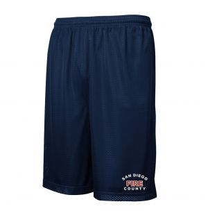 San Diego County Mesh PT Shorts with Pockets
