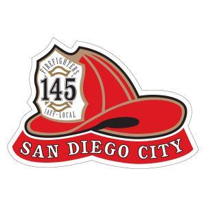 San Diego City Helmet Sticker