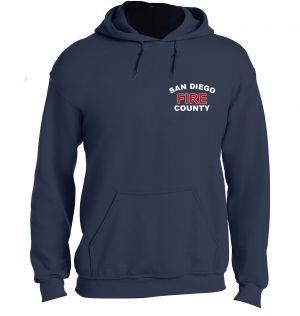 San Diego County Fire Navy Pullover Hoodie
