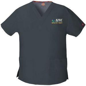 SJVC Respiratory Therapy Dickies Womens Scrub Top
