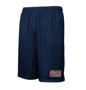 Yermo Calico Fire Mesh PT Shorts with Pockets